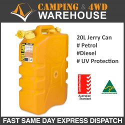 YELLOW FUEL SAFE 20L FUEL CONTAINER WITH POURER
