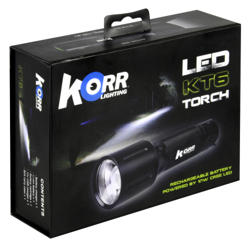 Hard Korr Rechargeable 10W Led Torch