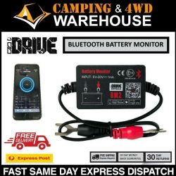 IDRIVE 12V BATTERY MONITOR BLUETOOTH 4.0 VOLTAGE METER